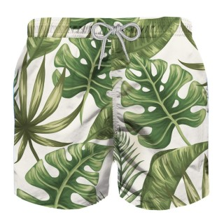 Детски бански - MC2 TROPICAL LEAVES JUMBO PRINT BOY SWIM SHORTS
