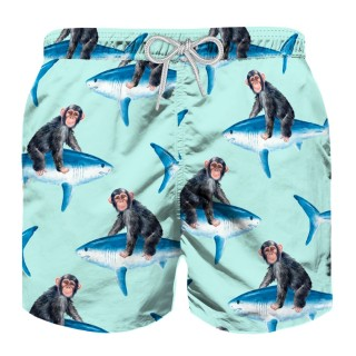 Детски бански MC2 - MONKEY RIDING BOY'S SWIMSHORTS